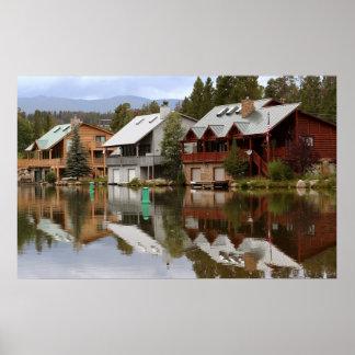 Casas del lago impresiones