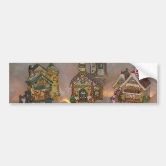 Casas del navidad pegatina de parachoque
