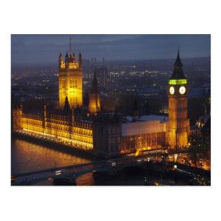 Casas del parlamento, Big Ben, Westminster Postales