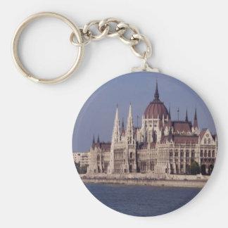 Casas del parlamento, Budapest, Hungría Llavero Redondo Tipo Pin