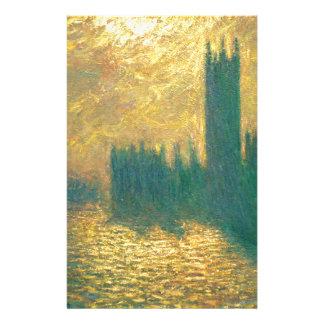 Casas del parlamento de Claude Monet Papelería