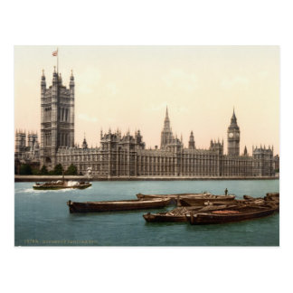 Casas del parlamento, Londres c.1895 Tarjeta Postal