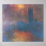 Casas del parlamento, Londres de Claude Monet Posters