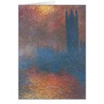 Casas del parlamento, Londres de Claude Monet Tarjeta