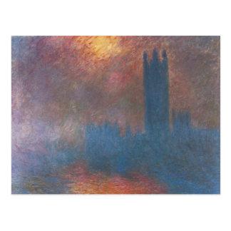 Casas del parlamento, Londres de Claude Monet Postales