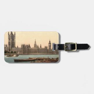 Casas del parlamento, Londres, Inglaterra Etiqueta De Equipaje