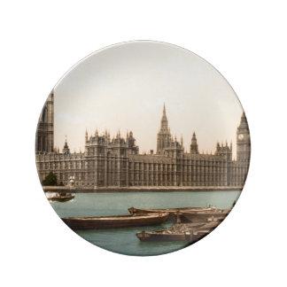 Casas del parlamento, Londres, Inglaterra Plato De Cerámica