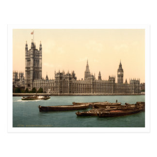 Casas del parlamento, Londres, Inglaterra Tarjeta Postal