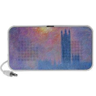 Casas del parlamento, Londres, Sun que se rompe a  Notebook Altavoces