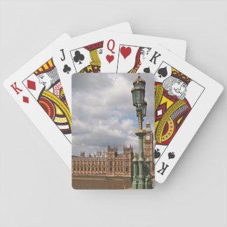 Casas del parlamento y de Big Ben en Londres Cartas De Juego