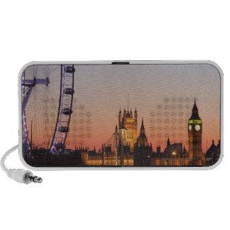 Casas del parlamento y del ojo de Londres iPod Altavoz