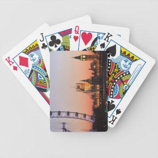 Casas del parlamento y del ojo de Londres Baraja Cartas De Poker