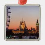 Casas del parlamento y del ojo de Londres Ornamentos De Navidad