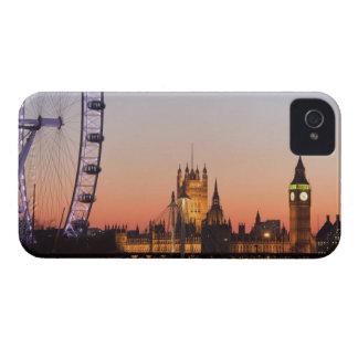 Casas del parlamento y del ojo de Londres Case-Mate iPhone 4 Cárcasa