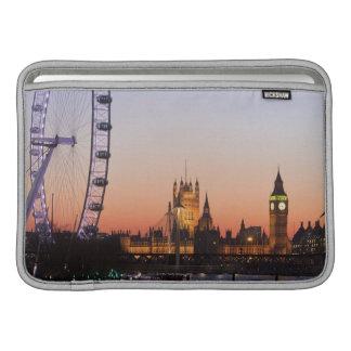 Casas del parlamento y del ojo de Londres Fundas Macbook Air