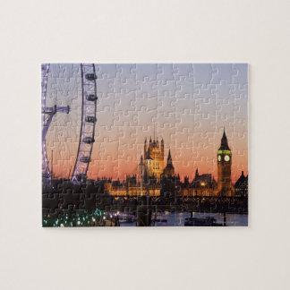 Casas del parlamento y del ojo de Londres Rompecabeza