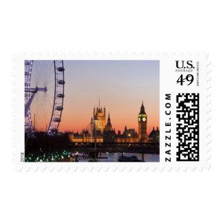 Casas del parlamento y del ojo de Londres Sello Postal