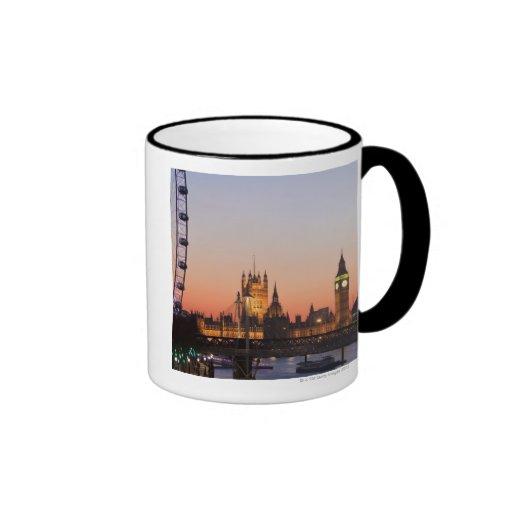 Casas del parlamento y del ojo de Londres Taza