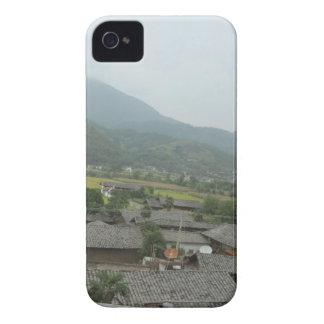 casas del prado del cielo del campo iPhone 4 carcasa