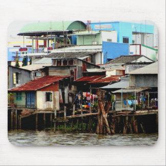 Casas del río Mekong Alfombrilla De Ratones