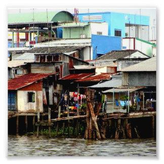Casas del río Mekong Fotografías