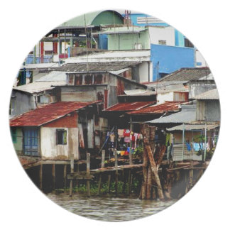 Casas del río Mekong Plato