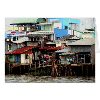 Casas del río Mekong Tarjeta De Felicitación