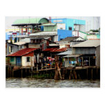 Casas del río Mekong Tarjetas Postales