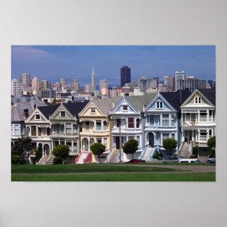 Casas del Victorian Póster