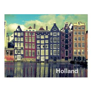 Casas del vintage de Holanda Postal