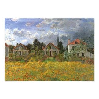 Casas en Argenteuil de Monet cambio de dirección