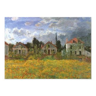 """Casas en Argenteuil, Monet, impresionismo del Invitación 5"""" X 7"""""""