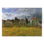 Casas en Argenteuil, Monet, impresionismo del Tarjeta De Felicitación
