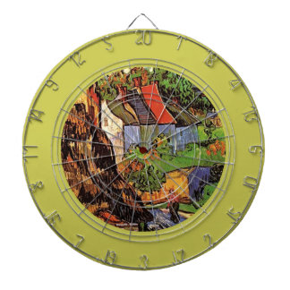 Casas en Auvers bella arte de Vincent van Gogh Tablero De Dardos
