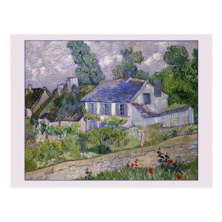 Casas en Auvers de Van Gogh Postales