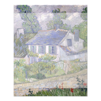 Casas en Auvers de Vincent van Gogh Tarjetas Informativas