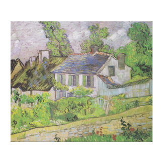 Casas en Auvers - Van Gogh (1890) Lona Envuelta Para Galerias