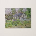 Casas en Auvers - Van Gogh (1890) Rompecabeza Con Fotos
