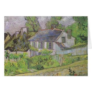 Casas en Auvers - Van Gogh (1890) Tarjetón
