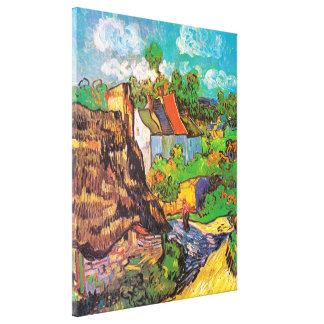 Casas en Auvers, Vincent van Gogh Impresion De Lienzo