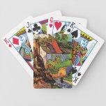 Casas en Auvers, Vincent van Gogh. Pueblo Baraja Cartas De Poker