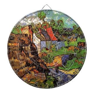 Casas en Auvers Vincent van Gogh Pueblo Tabla Dardos