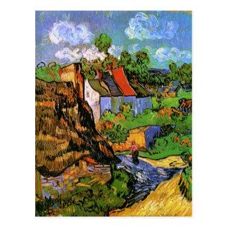 Casas en bella arte de Auvers Van Gogh Tarjetas Postales