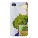 Casas en el Achterzaan, Claude Monet 1872 iPhone 4 Carcasa