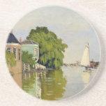 Casas en el Achterzaan - Claude Monet Posavasos Personalizados