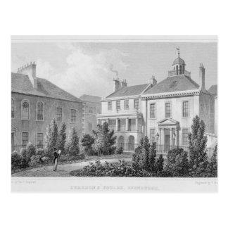 Casas en el cuadrado de los cirujanos, Edimburgo Tarjetas Postales