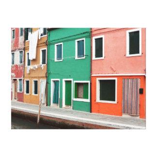 Casas en la costa impresión en lona