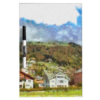 Casas en las colinas pizarras