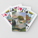 Casas en los árboles de Pierre-Auguste Renoir Baraja Cartas De Poker