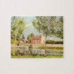 Casas en los bancos del Loing de Alfred Sisley Puzzles Con Fotos